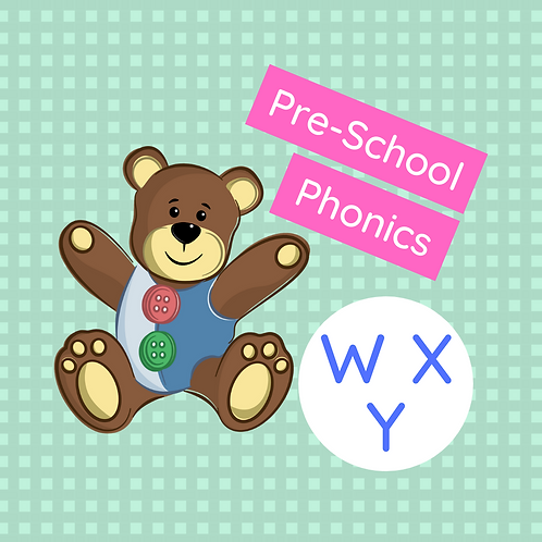 Set 8 (x 3 classes) Pre-school phonics - W, X & Y
