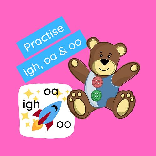 Phonics class - practice igh, oa & oo