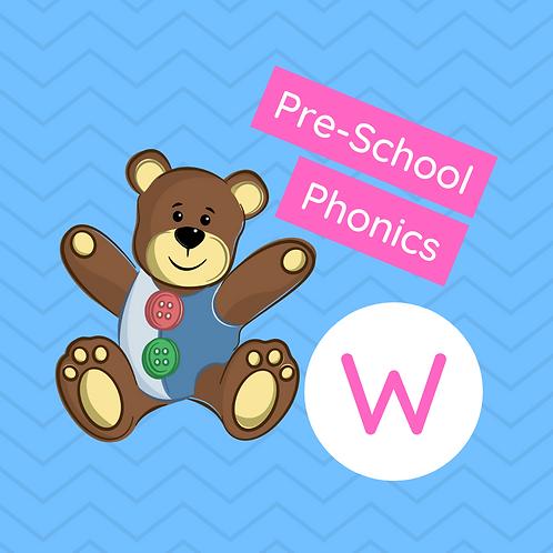 Sound Buttons Pre-school Phonics Class - W