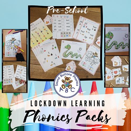 Pre-school Lockdown Learning Phonics Pack