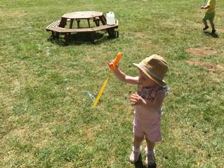 Gross motor skills - bubbles fun!