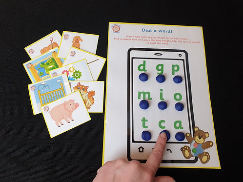 'Dial a word' CVC Spelling game
