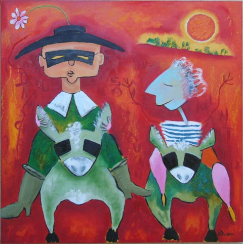 Don Quichotte Au Soleil Couchant
