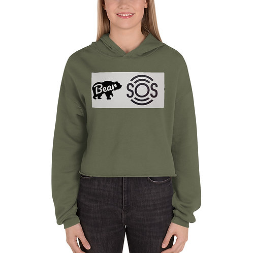 Bear S.O.S Crop Hoodie