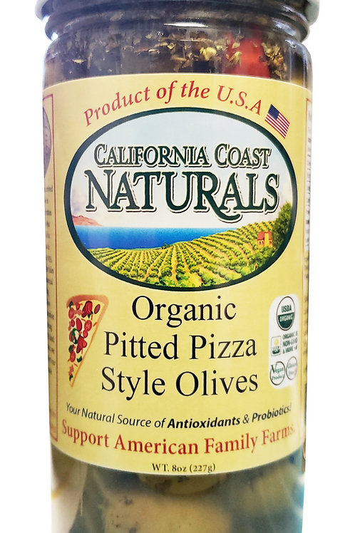 Organic Pitted Pizza Style Olives