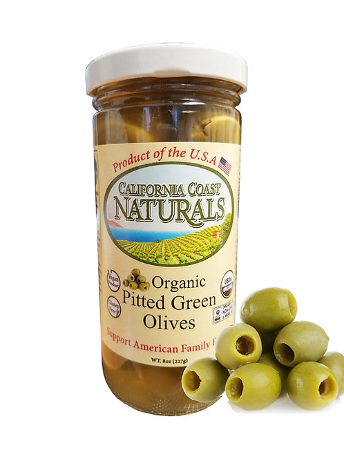 Organic Pitted Green Olives 5oz