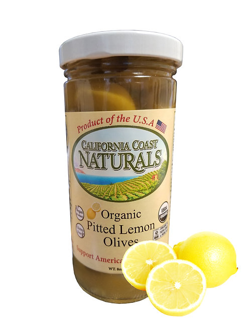 Organic Pitted Lemon Olives 5oz