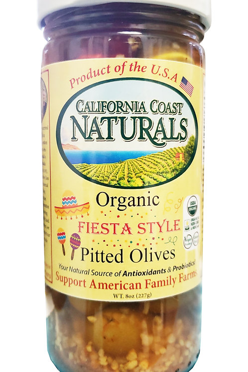 Organic Fiesta Style Pitted Olives