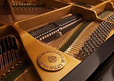 Detalhe do piano de cauda essenfelder co