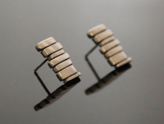 Silver 7 Bar Fence Earrings