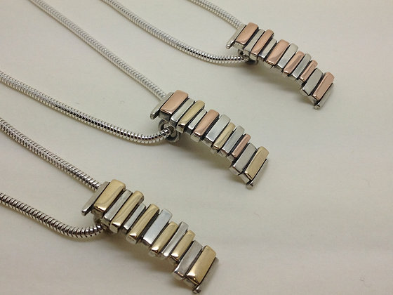 Silver Pendants with Golds
