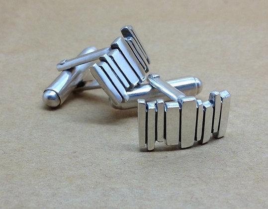 Silver Fence Cufflinks