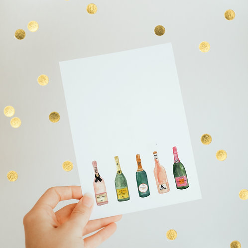 ⋆ Christmas card ⋆ Champagne
