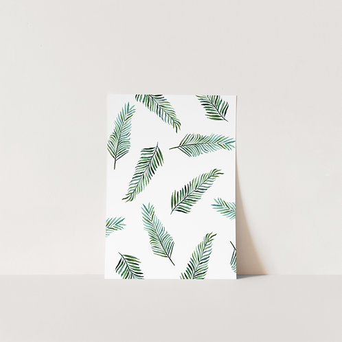 Postcard Tropical leaves