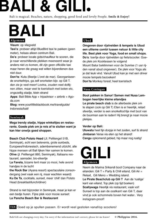 BALI & GILI.