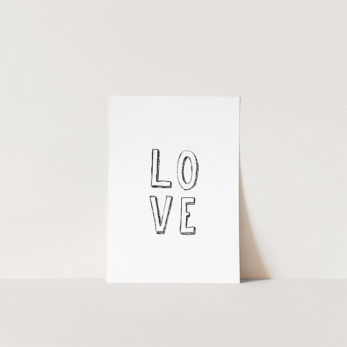 Postcard Love sign