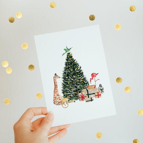 ⋆ Christmas card ⋆ Animal tree