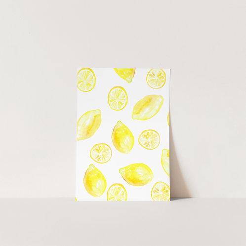 Postcard Pretty Lemons