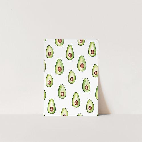 Postcard Avocado
