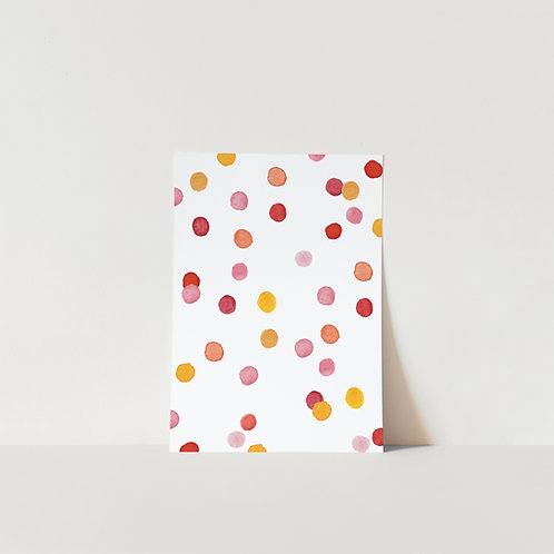 Postcard Pink Confetti