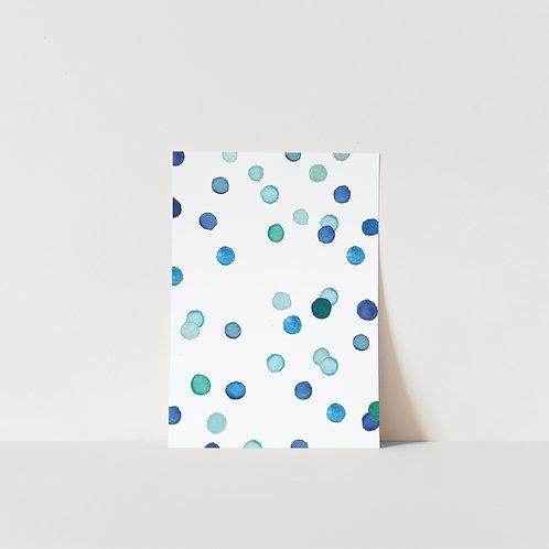Postcard Blue Confetti