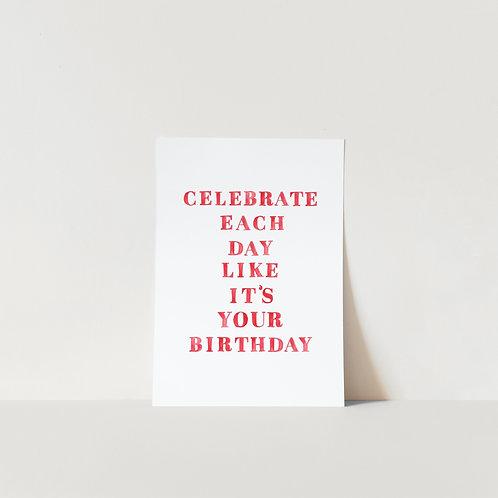 Postcard Celebrate each day
