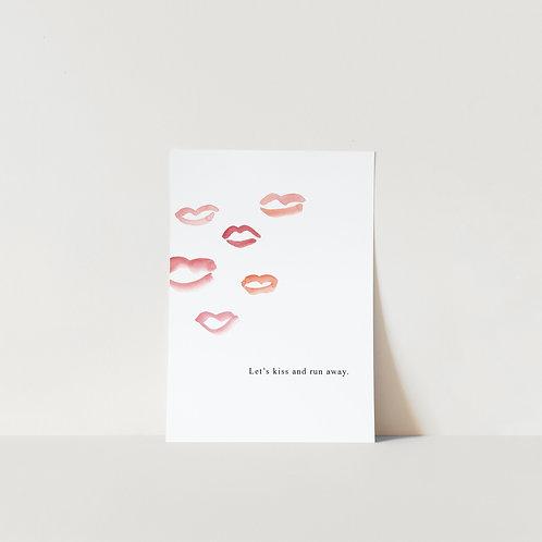 Postcard Kiss and run