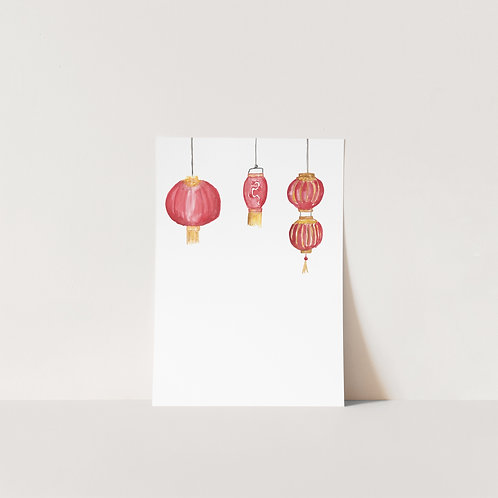 Postcard Red Lanterns