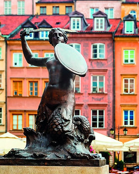 poland-Statue of Syrenka, Mermaid of War