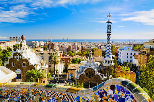Spain_Park Guell in Barcelona, Spain on