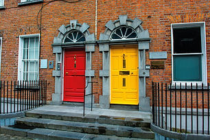 ireland-Colorful Doors in Kilkenny in Ir