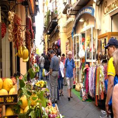 Private Sorrento walking tour through food shops and artisan work-shops