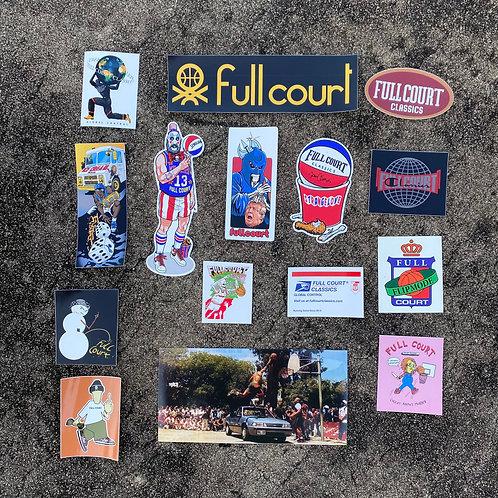Full Court 5 Year Anniversary Sticker Pack