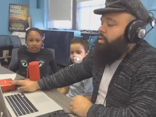 Hip-hop legends Grandmaster Caz and Melle Mel  Visit Bronx Children's Museum Afterschool Program at