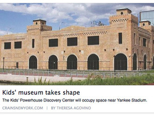 Here's a great article about the Museum's Kids' Powerhouse Discovery Center plans in Crain's NY!