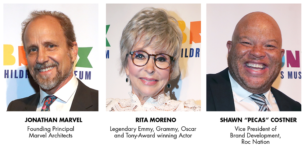 "Gala Honorees Jonathan Marvel, Shawn ""Pecas"" Costner and Rita Moreno"