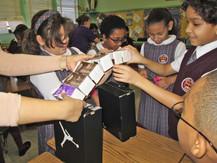 Second Grade Students learn Bridge Building