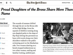Sonia Sotomayor and Sonia Manzano featured in NY Times article.