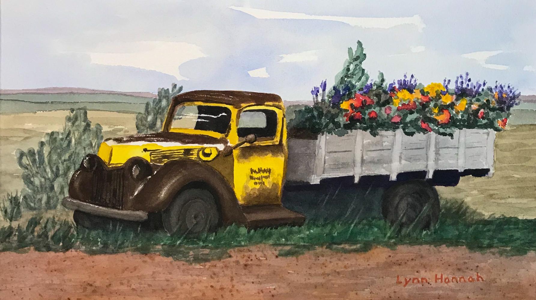 Truck flowers