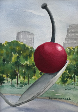 Cherry sculpture