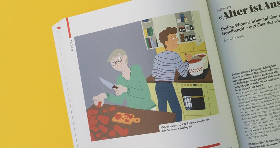 BLKB Magazin Hüt&Morn Illustration