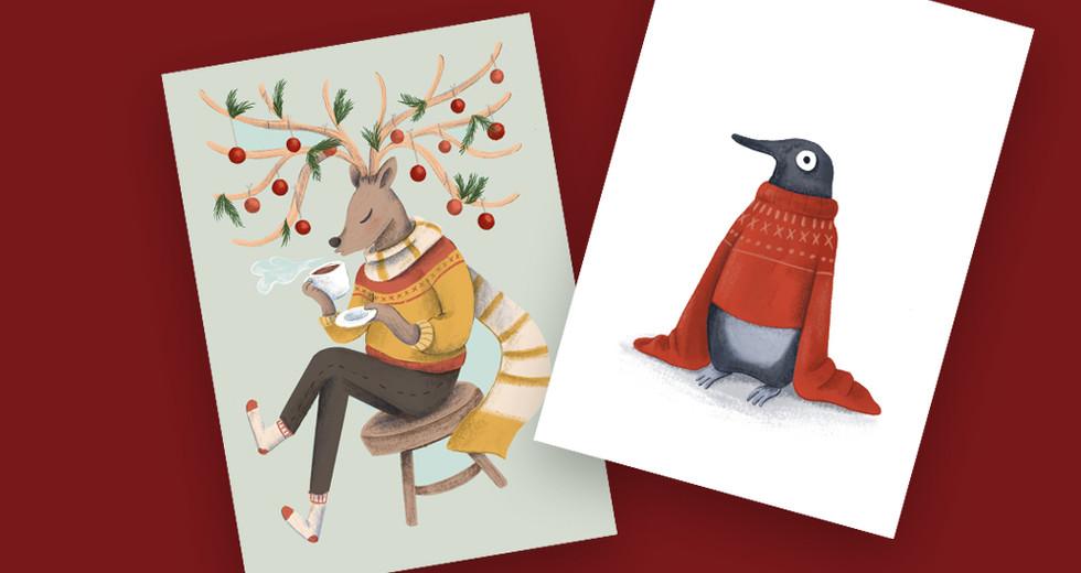 Postkartenserie Winter