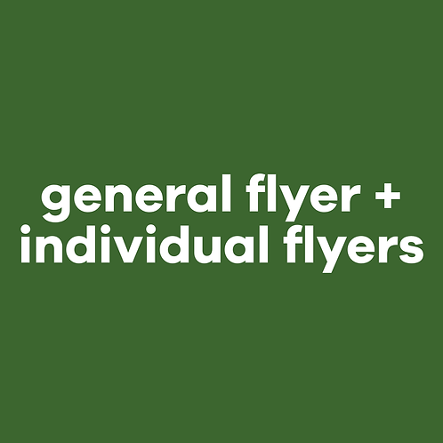 General Flyer + individual flyers