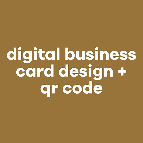 Business cards design + QR code