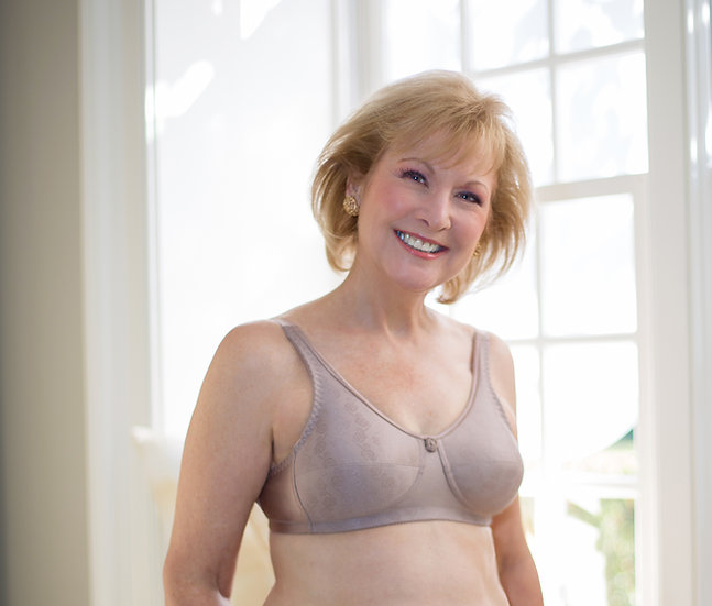 American Breast Care Rose Contour Wire Free Bra #103C