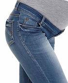 Зауженные джинсы для беременных, сверху трикотажная резиночка для животика, которая комфортно и легко регулируется.