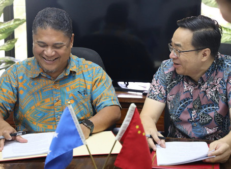 FSM, China sign contract to build a new vessel for Yap