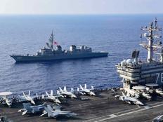USS Ronald Reagan pulls into Guam