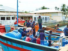 The blue threat:  Vietnamese poachers are rocking the boat in the Pacific