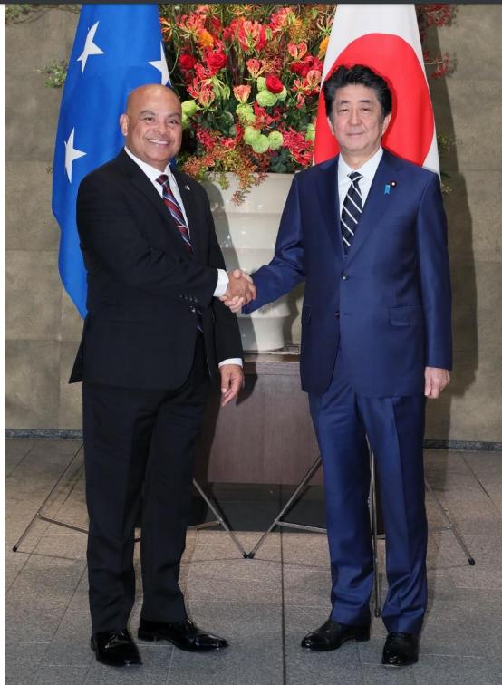 David Panelo and Shinzo Abe
